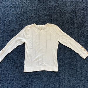 White and Warren Cotton Sweater